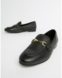 River Island - Buckle Detail Loafers - Lyst