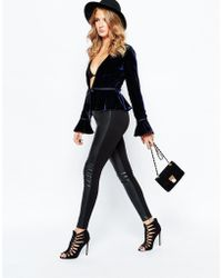Millie Mackintosh - Faux Leather Pants In Black - Lyst