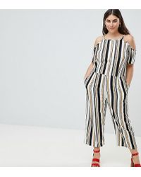 AX Paris - Stripe Jumpsuit - Lyst
