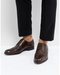 Dune | Wing Tip Shoes Brown Leather | Lyst