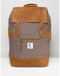 Forbes & Lewis - Leather Rider Backpack In Grey - Lyst