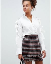 Glamorous - Shirt With Bow Details - Lyst