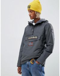 Napapijri - Rainforest Winter 1 Jacket In Dark Grey - Lyst