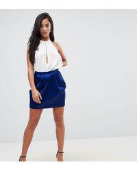 ASOS - Tulip Satin Mini Skirt - Lyst