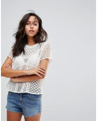 999a2fec41857 Lyst - Women s Abercrombie   Fitch Short-sleeve tops On Sale