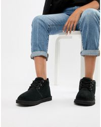 UGG - Neumel Black Lace Up Ankle Boots - Lyst