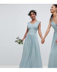 TFNC London - Sleeveless Maxi Bridesmaid Dress With Pleated Skirt - Lyst
