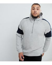 Only & Sons - Half-zip Hoodie With Arm Stripe - Lyst