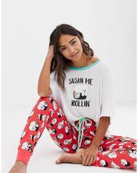 Chelsea Peers - Sushi Me Rolling Printed Long Pyjama Set - Lyst