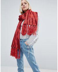 Eugenia Kim | Genie By Linley Red And Burgundy Zebra Print Scarf | Lyst