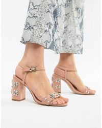Miss Kg - Shimmer Embellished Heeled Sandals - Lyst