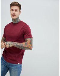 Pull&Bear - Join Life Basic T-shirt In Burgundy - Lyst