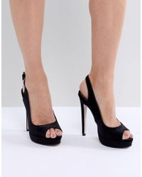 c13950fde8c3 Miss Kg - Vamp Stacked Heel With Ankle Strap Court - Lyst