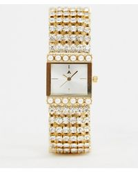 49d4a8d3103ce6 ASOS - Watch In Vintage Style Design With Jewel And Pearl Strap - Lyst