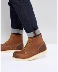 Eastland - Lumber Up Leather Boots In Tan - Lyst