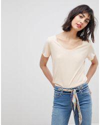 Vero Moda - Round Neck T-shirt - Lyst