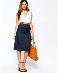 Warehouse - Midi A Line Skirt - Lyst