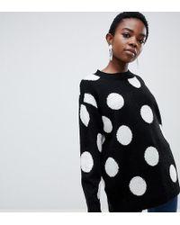ASOS - Asos Design Petite Sweater In Spot - Lyst