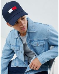Tommy Hilfiger - Flag Baseball Cap In Navy - Lyst