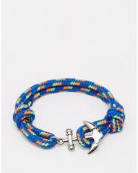 Jack & Jones - Anchor Rope Bracelet - Lyst