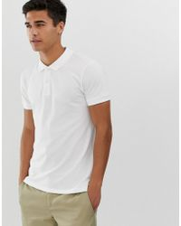 Esprit - Organic Polo Shirt In White - Lyst