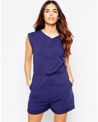 Wal-G - Playsuit With Button Front - Lyst