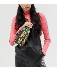 Monki - Zip Belt Bag In Camo Print - Lyst
