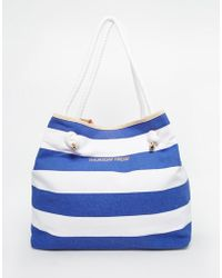Thursday Friday | Canvas Striped Beach Bag | Lyst