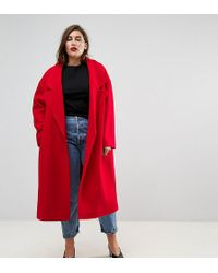 ASOS - Coat With Extreme Collar - Lyst