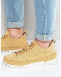 Clarks - Trigenic Suede Trainers - Lyst