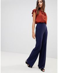 Love - Textured Wide Leg Trousers - Lyst