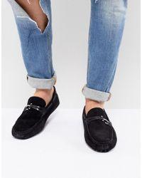 ALDO - Roxbury Suede Loafers In Black - Lyst