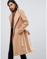 Y.A.S - Belted Wrap Coat - Lyst