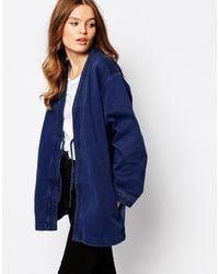WÅVEN - Imma Clean Denim Kimono Jacket - Lyst