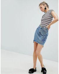 Monki - Denim Skirt - Lyst