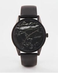 Unknown - Urban Marble Watch In Black - Lyst