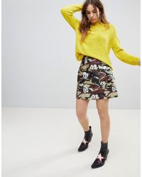 House of Holland - Hattie - Mini-jupe à imprimé camouflage - Lyst