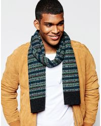 Original Penguin - Fairisle Wool Scarf - Lyst