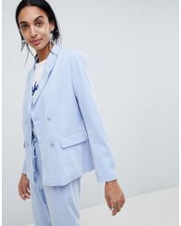 B.Young - Double Breasted Suit Blazer - Lyst
