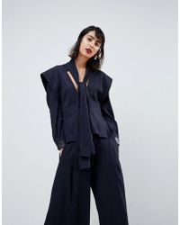 ASOS - Multi Strap Tailoring Top With Pu Cuff - Lyst