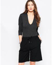 Just Female | Cara Round Neck Bodysuit | Lyst