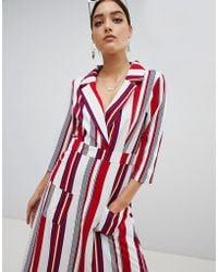 PrettyLittleThing - Striped Maxi Shirt Dress - Lyst