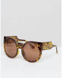 ToyShades - Rafferty Oversize Round Sunglasses - Brown - Lyst