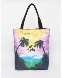 Vans - Shopper Beach Bag In Sunset Print - Lyst
