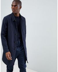 ASOS - Trench impermeabile blu navy - Lyst
