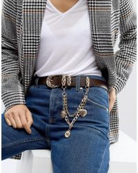 ASOS - Jeans Belt With Hanging Charm Chain - Lyst