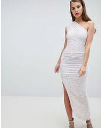 One Shoulder Mesh Aysmetric Dress - Black Forever Unique zct1zn80H