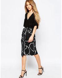 Talulah - Crackle Print Midi Skirt - Lyst