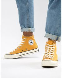 32dd387630be Converse - Chuck Taylor All Star  70 Hi Sneakers In Yellow 162054c - Lyst