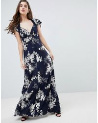 French Connection | Floral Print Maxi Dress | Lyst